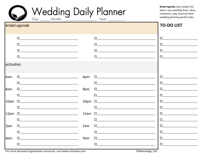 Worksheets Wedding Day Timeline Worksheet downloads oremedy get organized be successful wedding