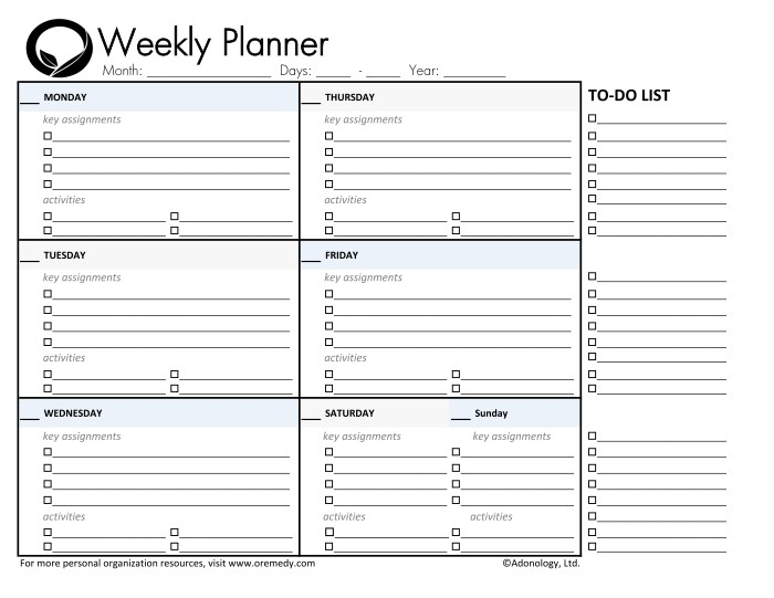 "Weekly Calendar Worksheet : Search results for ""covey weekly planner template excel"